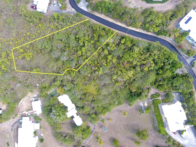 Aerial view lot boundary estimate