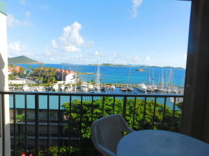 This is a top floor unit with a view from the Marina, over to the Caribbean Sea and to the British Virgin islands