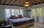 master bedroom is large and airy