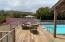 Mezzanine level deck leading to pool