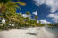 Cowpet Bay beach looking at Cowpet Bay east condos straight ahead