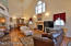 Living Room/Dining Room, Gas Fireplace