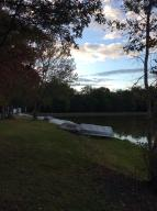 Lake access area across street from property