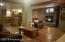 Open concept, hardwood floors, stone gas Fireplace