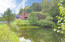 Pond view of home