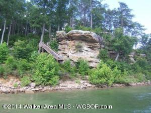 Great Subdivision.Lakefront lot convenient to Jasper and Curry. Located across from Bankhead Forest. Beautiful views. Magnificent rock face at the water.