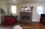 Living Room has Gas Log Fireplace.