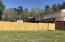 Back fenced in back yard