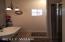 Claw foot tub & walk in shower.