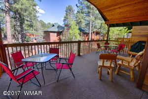 Enjoy the cool Mountain evenings on your private back porch.