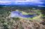 Woodland lake drone view