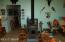 living area/wood stove