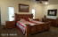 Large master bedroom with vaulted ceiling