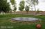 Underground trampoline in back yard