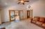 Family room with Alder doors