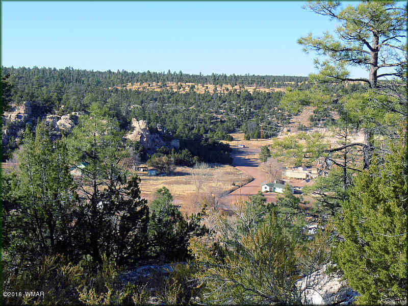 Imagine setting high above the valley floor overlooking the convergence of two major canyons, Buckskin Canyon and Black Canyon with the town lights of to the edge. From below, rock formations support the acreage above giving strength and character to the land. Large pines shade the upper level acreage. This is truly a one of a kind property. Come see this ground today.