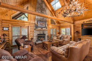 Living area in cabin