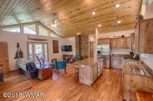 Open Living Kitchen Area