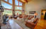 Solid wood floors in the living space