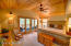 Master suite with walk out