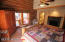 Fireplace, private deck and private bath