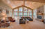 Huge Family Room w/Vaulted Ceilings & Gas Fireplace