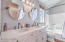 Remodeled bathrooms with beautiful finishes!