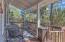 Front deck patio perfect for relaxing and enjoying the beautiful weather in the mountains.