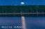 Beautiful full moon with lake reflection
