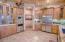 Kitchen w/ Viking appliances, granite