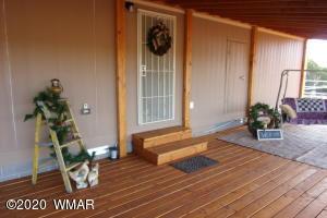covered back deck.
