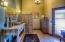 Powder Room with custom sink & credenza