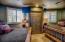 Wine Cellar Guest Suite has 2 queen beds and a full en-suite bath.