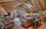 Living Room w/ Vaulted Ceilings, Skylights, Fireplace
