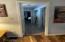 master bedroom hallway with laundry