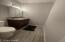 half bath in back bedroom