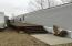 Deck was added on and is nice to pull your boat up next to and unload everything with ease.