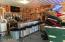 The bar is no longer there, but it shows you how he had it set up. Great space for entertaining.