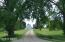 Entrance driveway to acreage from 439th Avenue