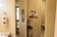 Master Bathroom to toilet & walk-in tile shower