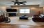 Lower level family room, has in-floor heat