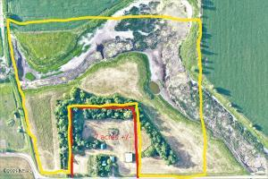 Yellow shows 35 acre piece to be plotted
